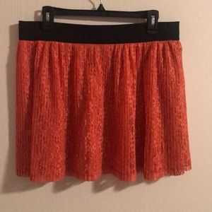 Candie's Skirts - 🍊Candie's Orange Lacy Skirt 🍊